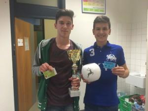 Die beiden Finalisten: Mihael Jacimovic und Milos Lazarevic